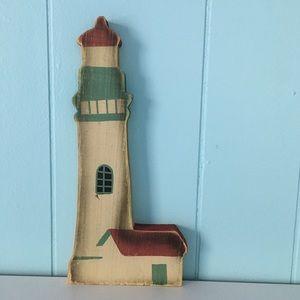 Wood Lighthouse Beach Nautical Figure Decor